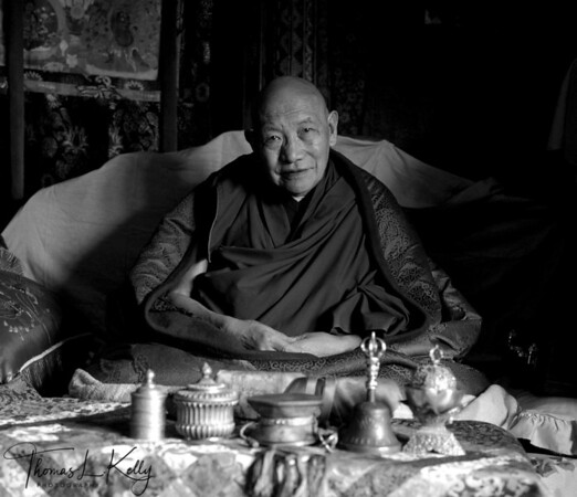 """Trulshig Rinpoche.   """"Ignorant are they who do not recognize the evanescence of worldly things and who tenaciously cleave to them as final realities;..ignorant are those who do not understand that there is no such thin as an ego-soul.. Buddhism, therefore, most emphatically maintains that..we must radically dispel this illusion, this ignorance, this root of evil and suffering in this life.""""      -D. T. Suzuki (outline of Mahayana Buddhism) Chiwang Monastery, Solu region, Nepal."""