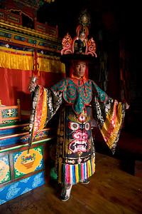 Ser Kyem dancers. Chiwong Monastery, Solu Khumbu, Nepal.