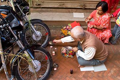 10 Day long Dashain Festival. Kathmandu, Nepal.