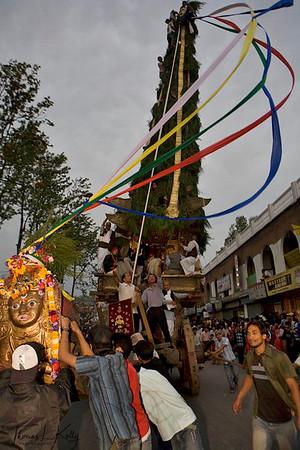 Seto macchendranath procession at Durbar Marg
