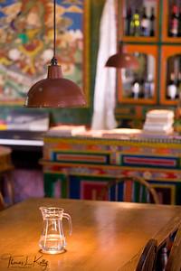 Dining interior of Hotel Del Sherpa. Solu, Nepal.