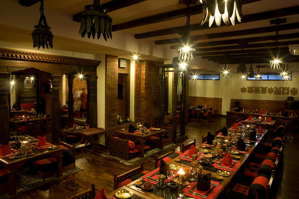 Food, Interior and Exterior in Dwarikas.