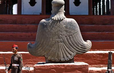 Garuda Kathmandu Durbar Square. Kathmandu, Nepal.