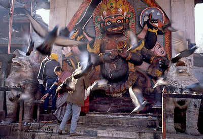 Kaal Bhairav.  Kathmandu Durbar Square. Kathmandu, Nepal.