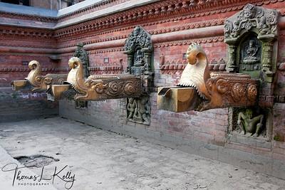 Sundhara (water spout of gold) at Patan. Nepal.