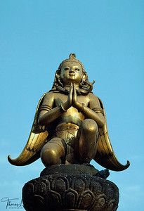 Garuda statue in Patan Durbar Sqaure Lalitpur, Kathmandu, Nepal.