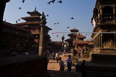 Krishna Mandir at Patan Durbar Square.  Patan, Nepal.
