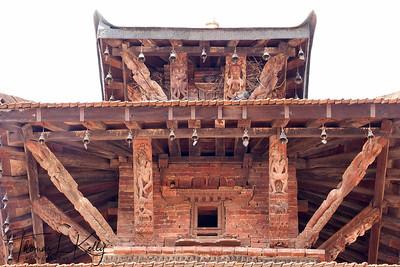 Restoration of Mul Chowk inside Patan Durbar Square. Patan, Nepal.