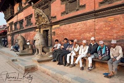 Paati at Patan Durbar Square. Nepal.