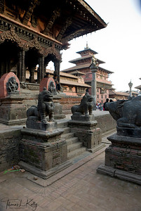 View of Patan Durbar Square.  Lalitpur, Kathmandu, Nepal.