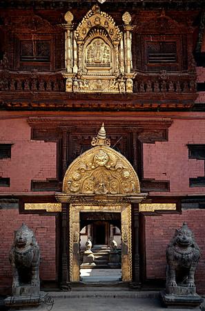 The golden gate in Patan Durbar Sqaure Lalitpur, Kathmandu, Nepal.