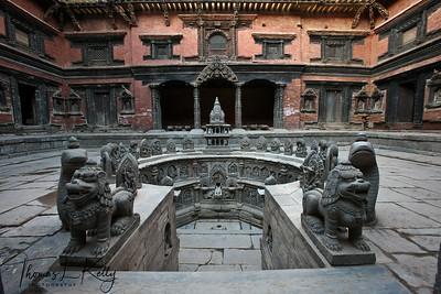Restored Tusahiti, Sundari Chowk. Patan. Nepal.