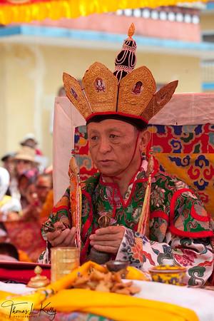 H.E. Chokyi Nyima Rinpoche performs Tara practice from the Chokling Tersar for Ven. Kyabje Tenga Rinpoche's kudung. Benchen Phuntsok Dargyeling Monastery Kathmandu, Nepal.