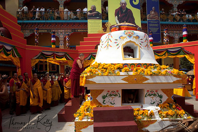 Cremation chorten of Ven. Kyabje Tenga Rinpoche at Benchen Phuntsok Dargyeling Monastery. He passed away on 30th of March, 2012 at 3:24 a.m. Kathmandu, Nepal.
