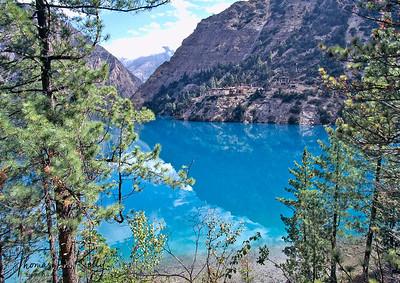 Shey Phoksundo lake. Dolpo, Nepal.