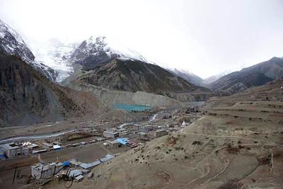 Glacial lake. Manang, Nepal.