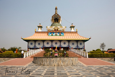 The Great Drigung Kagyud Lotus Stupa was built in Lumbini by German Tara Foundation. Nepal.