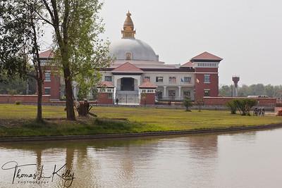 Nepali Buddhist monastery in Lumbini. Nepal.
