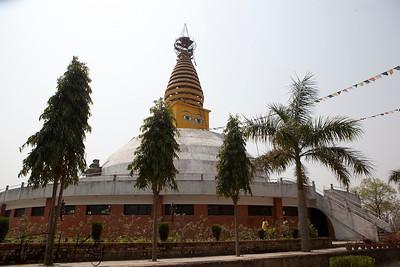 Nepalese chaitya (stupa) in Lumbini. Nepal