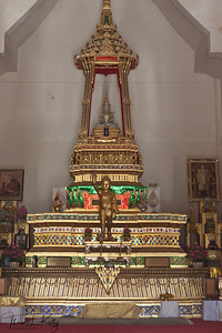 Alter inside Chinese Monastery in Lumbini. Nepal.