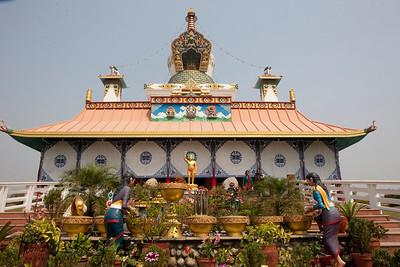 The Great Drigung Kagyud Lotus Stupa was built in Lumbini by German Tara Foundation. Nepal.