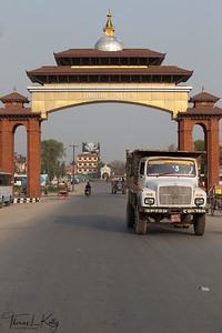 Entrance gate to Lumbini. Nepal.