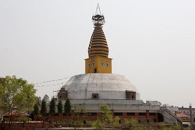 Nepalese chaitya (stupa) in Lumbini. Nepal.