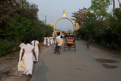 Entrance to Lumbini complex. Nepal.