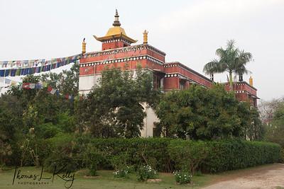 Tibetan Monastery in Lumbini, Nepal.