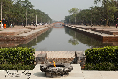 This Eternal Lamp was set aflame on 1st of November 1986 by then His Royal Highness Prince Gyanendra Bir Bikram Shah Dev to commemorate the International Year of Peace. The flame was brought from United Nations (New York, USA) to integrate peace and harmony among the globle community. Lumbini, Nepal.