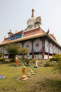 A model of Buddha's birth at The Great Drigung Kagyud Lotus Stupa was built in Lumbini by German Tara Foundation. It is believed that Gautam Buddha walked 7 steps towards North direction immediately after his birth and every place the baby Buddha placed his foot,a lotus flower bloomed. Nepal.