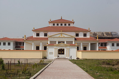 "Mother Temple of the the Graduated Path of Enlightenment ""Sri Sri Sri Bodhipathkram Matri Bihar"" in Lumbini. Nepal."