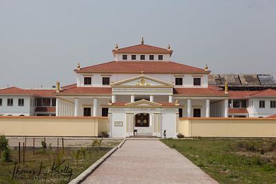"Mother Temple of the the Graduated Path of Enlightenment ""Sri Sri Sri Bodhipathkram Matri Bihar"" in Lumbini. Nepal."