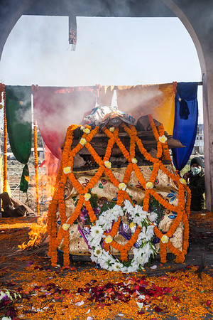 Cremation of Mustangi King