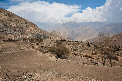Ruins of first Khampa resettlement. Chhumpa, Upper Mustang. Nepal.