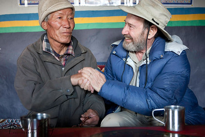 77 year old Tarchin Gurung tells his stories of those years past when the Khampas lived nearby and local villagers lived in fear of the Tibetan insurgency that had entered Nepal. Samar, Mustang, nepal.