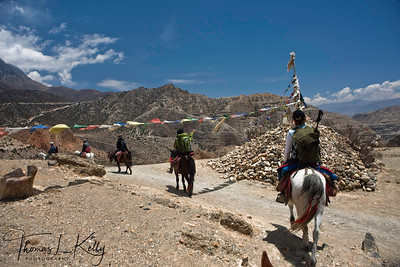 Majestic landscape on the way to Samar. Mustang, Nepal.