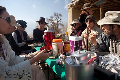 Lunch at Tamagaon (3710m). Mustang, Nepal.