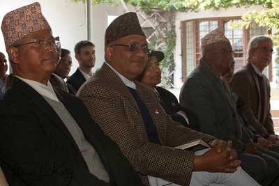 Ex-Peace Corps volunteers of Nepal attend relaunch meeting of Peace corps at Kamal Kunj, Kamaladi, Kathmandu, Nepal.