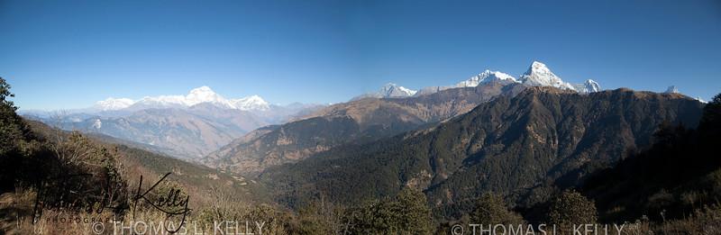 Panaroma View of Mountains
