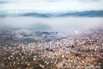 Kathmandu City Ariel View