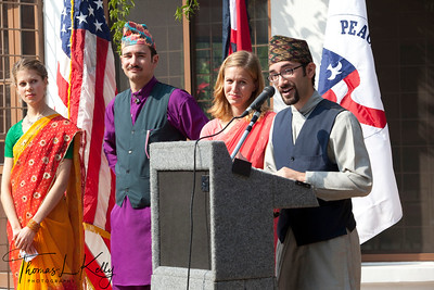 Peace Corps Volunteers address during 50th Anniversary Swearing In of Peace Corps Nepal Volunteer Group 199.