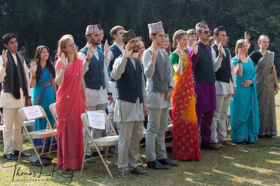 Peace Corps Volunteers take oath with Peter W. Bodde, US Ambassador to Nepal.  50th Anniversary Swearing In of Peace Corps Nepal Volunteer Group 199.