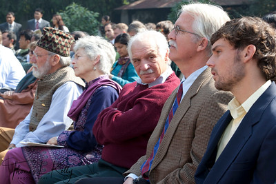 Ex Peace corps volunteers from left to right; Michael Gill, Barbara Butterworth, Jesse Brandt and Steven LeClerq.  50th Anniversary Swearing In of Peace Corps Nepal Volunteer Group 199.