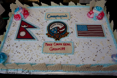 Peace Corps cake.  50th Anniversary Swearing In of Peace Corps Nepal Volunteer Group 199.