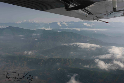 Ariel view of Himalayan range in Solu region.