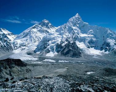 Mount Everest (8848m)- The highest peak of the world.  Solu, Nepal.