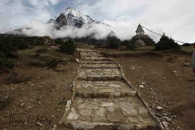 Mt. Kwangdi, sacred Mountain to Sherpas of Syamboche. Lukla, Nepal.