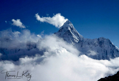 Lhotse Himal (8501m)- Lhotse, the fourth highest mountain in the world, is situated in Everest region. Khumbu region, Nepal.