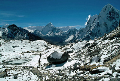 Mountaineers at Everest region, Solu Khumbu, Nepal.